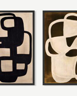 Labyrinth. Set of 2 Framed Prints