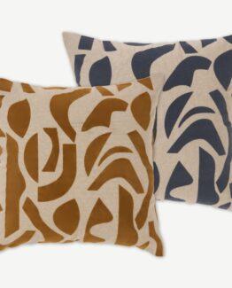 Lafant Set of 2 Flocked Cushions
