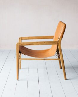 Artie Tan Leather Chair