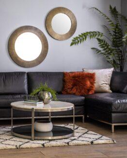 Cortina Leather Chaise Sofa