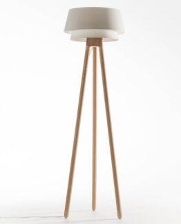 Epilogon Oak Tripod Floor Lamp
