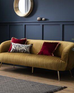 Gemma Velvet Sofa