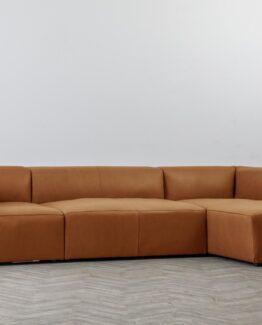 Harris Leather Chaise Sofa