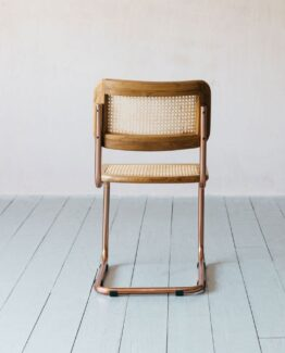 Recycled Teak and Copper Chair