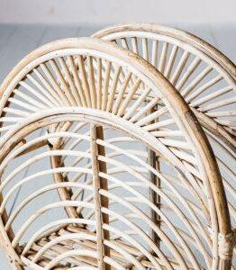 Round Cane Magazine Rack