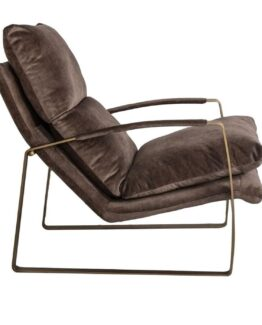 Spencer Faux Suede Lounge Chair